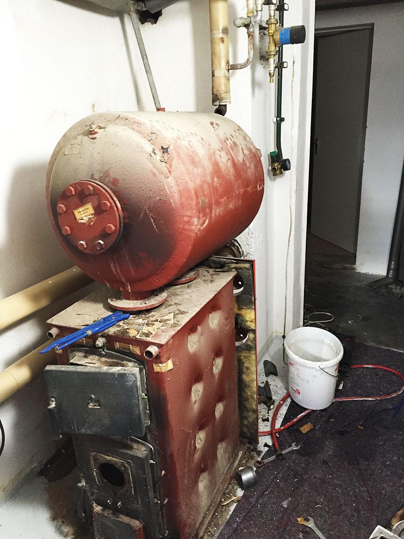 Alte Ölheizung ersetzt durch SB 105 von Buderus
