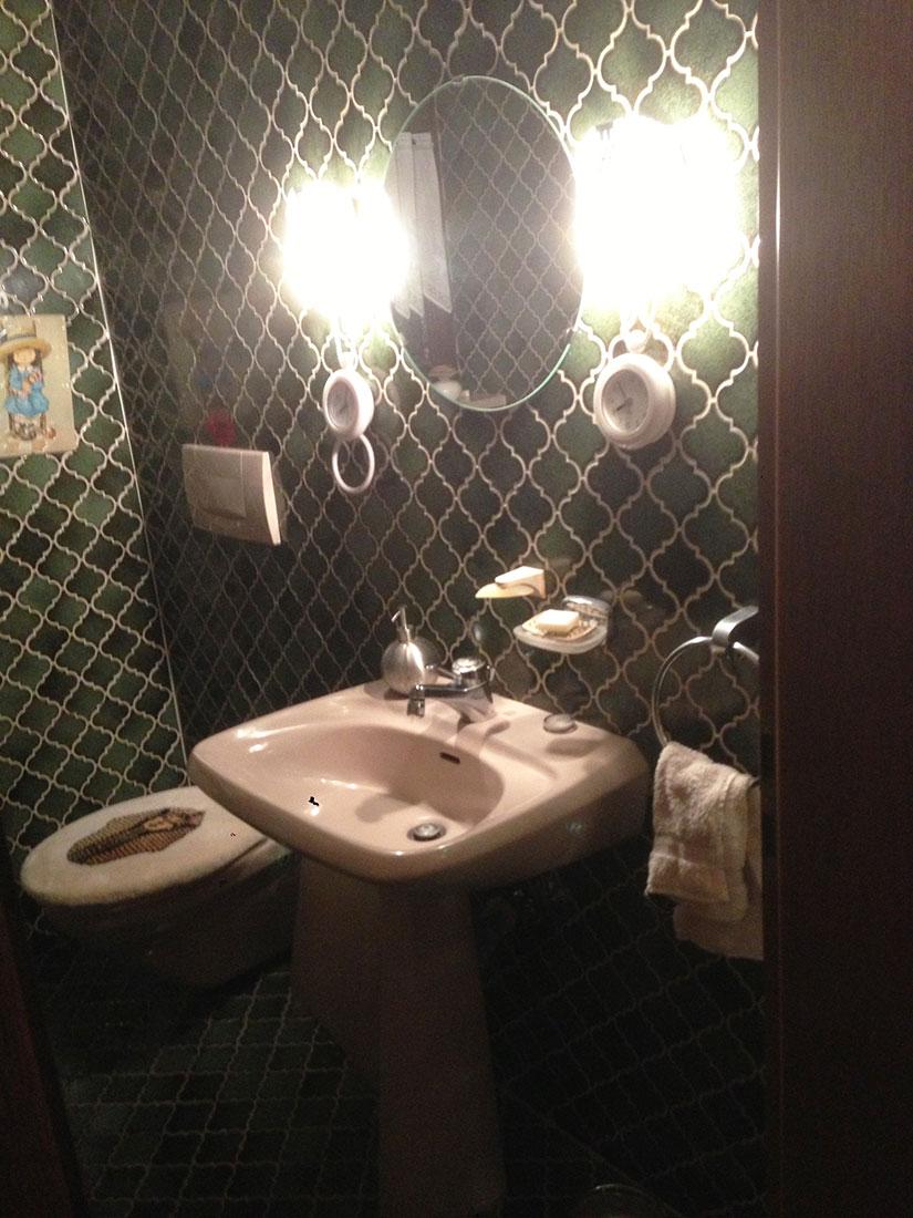 Sanierung einer alten Gäste Toilette