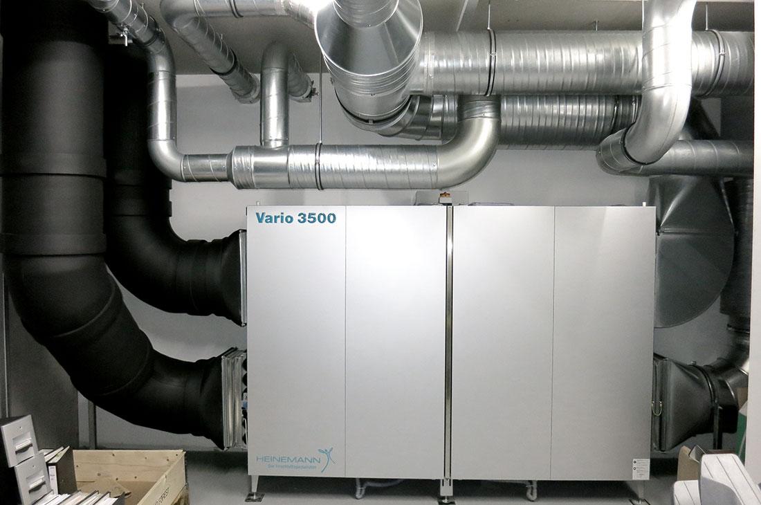 Vallox - Lüftungsanlage mit Wärmerückgewinnung für Bürogebäude